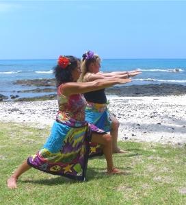Marya Mann and Cindy Longhofer sending energy.